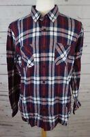 NEW American Rag Men's Plaid Flannel Shirt Dark Scarlet X-Large MSRP $40.00