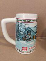 Vintage Miller High Life Collector Series Holiday Christmas Beer Mug Stein