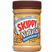 Skippy Natural Super Chunk Peanut Butter Spread, 15 Ounce (Pack of 6)