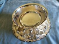 """Wallace Silver-plate """"Harvest"""" 15 Pc. Punch Bowl Set: Bowl, Tray, Ladle, 12 Cups"""