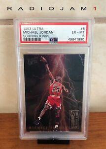 1993 Ultra Scoring Kings Michael Jordan #5 PSA 6 EX-MT
