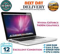 "Apple MacBook 13.3"" Intel Core 2 Duo 2.4GHz 4GB RAM 500GB HDD El Capitan A Grade"