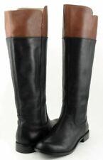 Botas de mujer negros de tacón bajo (menos de 2,5 cm) de piel