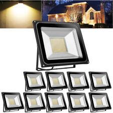 10X 100W LED Flood Light Warm White Outdoor Lighting Garden Lamp Spotlight 110V