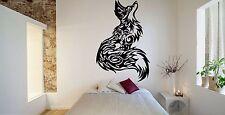 Wall Room Decor Art Vinyl Sticker Mural Decal Tribal Tattoo Fox Beautiful FI501