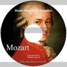Massive Professional Mozart Sheet Music Collection Archive Library on DVD