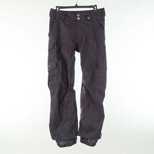 Burton Black Nylon Mens XS Snowboard Ski Winter Cargo Snow Pants