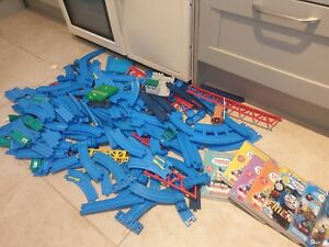 Bundle Tomy blue tracks lot of extra and DVD -Thomas Tank Trackmaster