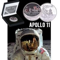 WR APOLLO 11 Moon Landing Silver Challenge Coin Anniversary Souvenir In Gift Box