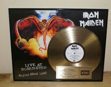 Iron Maiden Presented to Camelot Records Gold Record Award Live At Donnington