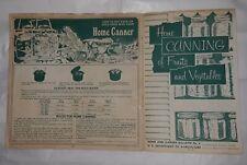 vintage usda bulletin no. 8 home canning fruits vegetables booklet instruction