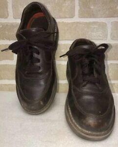 CABELA'S MEN 8E 82-1079 Dark Brown LEATHER CHUKKA LACE VIBRAM SNEAKERS OXFORDS