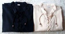 Camicie casual e maglie da uomo neri ampio in cotone