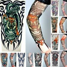 8 X STRETCH NYLON FAKE TATTOO SLEEVES/ ARMS FANCY DRESS TRIBAL TIGER SKULL STAG