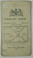 1912 Old OS Ordnance Survey One-Inch Third Edition Map 56 Boston Large Sheet Ser