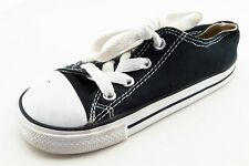 Converse All Star Toddler Sz 9 Medium Black Loafers Fabric Unisex
