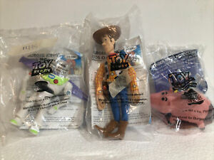 Set of 3 Burger King Toy Story Pals Woody, Buzz Lightyear, Hamm - NEW