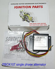 Boyer Powerbox regulator single phase alternator can be used without battery 107