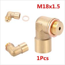 Car M18 X 1.5 O2 Oxygen Sensor Extender 90 Degree Angled Extension Spacer Brass