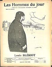 Louis Blériot 1909 JOURNAL LES HOMMES DU JOUR  N°85