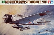 Tamiya America 1:48 A6M2 Zero Fighter Type 21 Plastic Model Kit 61016 TAM61016