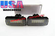 2X LED License Plate Light Xenon White No Error For Mercedes Benz W203 W211 W219