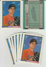 Mike Mussina rookie card, 1991 Bowman, Baltimore Orioles, Baseball Hall of Fame