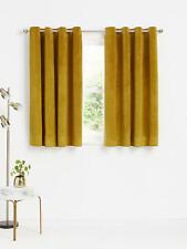 John Lewis W167 x D228 cm Lustre Velvet Pair Lined Eyelet Curtains GOLD