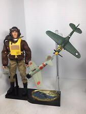 1/6 WW2 PEARL HARBOR US AIR FORCE FIGHTER PILOT DIORAMA P-40 & ZERO  DID BBI 21