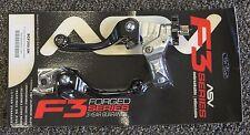 ASV F3 Brake & Clutch Lever Set Black Honda CRF250R CRF450R