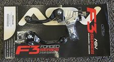 ASV F3 Brake & Clutch Lever Set Black Short Honda CRF250R CRF450R