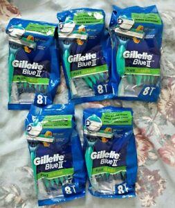 40 Gillette Blue 2plus Slalom Razor 5packs Of 8