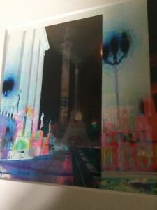 Abstract Photographic Image of Paris With Overlapping Abstract Montage Sights