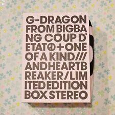 G-DRAGON ~ COUP D'ETAT + ONE OF A KIND & HEARTBREAKER CD + DVD + PHOTOBOOK Japan