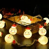 Christmas 10 LED String Light Snowman Fairy Indoor Lights Party Home Decor Lamp