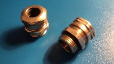 M16 CAPRI NICKEL PLATED BRASS CABLE GLAND = PK 5