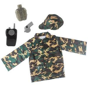 Jungen Kinder Militär Kostüm Feierlich Soldat Armee Offizier Buch Woche Kostüm