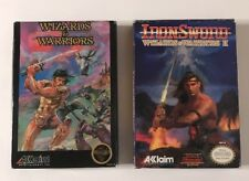 Wizards and Warriors 1 & 2 Iron sword (CIB) Complete (Fast Free Shipping Day Of)