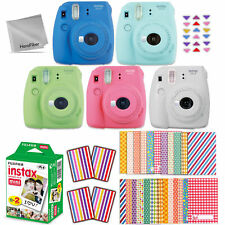 Fujifilm Instax Mini 9 Instant Camera + 20 Sheet Film + Sticker Frames + More.