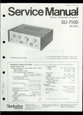 Orig Factory Technics/Panasonic SU-7100 Stereo Amplifier Service Manual