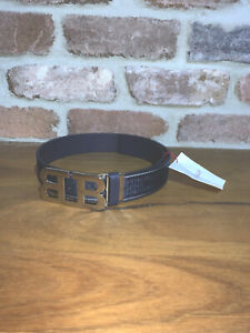 Bally Mirror B Designer Belt Navy Blue Cheap Rare