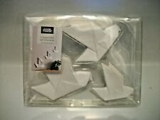 New Ceramic Set Of 3 Origami Geometrix Bird Wall Ornaments