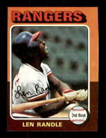 1975 Topps #259 Len Randle NM/NM+ Rangers 509814