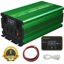 Renoster Power Inverter 1500W 3000 Watt Pure Sine Wave 12V dc 110V 120V ac LCD