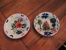Vintage Enamel Graniteware fruit Bowl house / flower Design