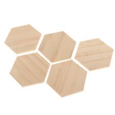 Unvollendete Holzstücke   5er Pack Holz Hexagon Ausschnitt Fliesen,