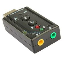 Laptop Audio Device USB 2.0 Virtual 7.1 Channel 3D Audio Sound Card Adapter PC