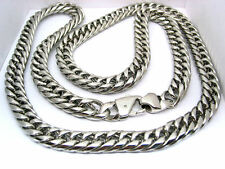 "STAINLESS STEEL MENS CHAIN NECKLACE CURB CUBAN HEAVY LINK 32"" 150g   * US Seller"