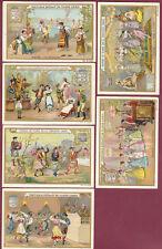 Chromo LIEBIG - Série de 6 - PAYS danse folklore