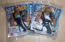 SDCC 2012 EXCLUSIVE WWE THE ROCK RUMBLER MINI PROMO FIGURE AUCTION COMES WITH 2!